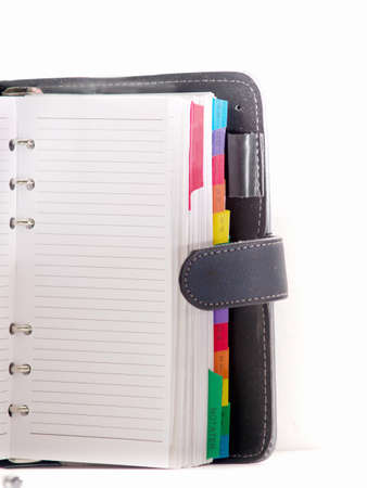 Page in a diary - Organiser with room to  copy Stock Photo - 4395866