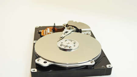 hard drive crash: Hard Disk Drive. Disassembled and without cap