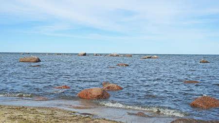 Sunny day Baltic Sea landscape view near Tallinn.