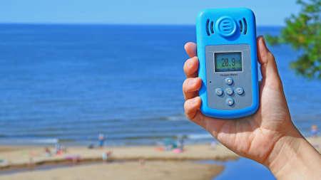 severity: Oxygen level in air near Baltic sea. Stock Photo