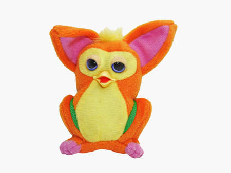Childrens toy - funny orange animal with big ears