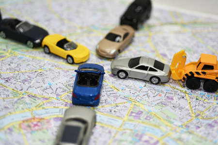 traffic jams: Abstract composition of city traffic. Traffic jams Stock Photo