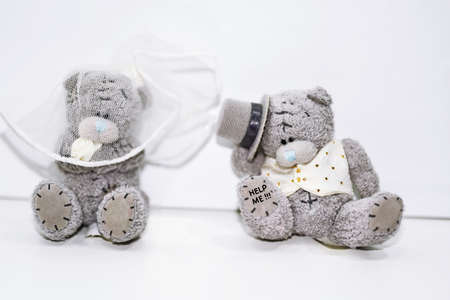registry: Two Teddy Bears in wedding abstraction.