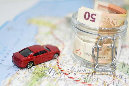 spending: Traveling money spending.