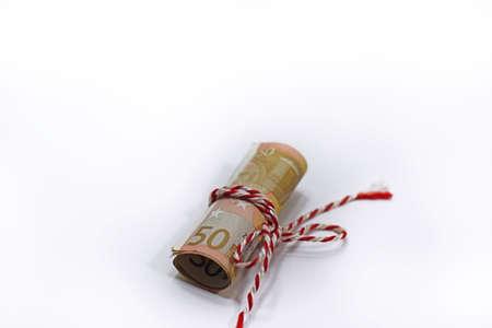 Abstract photo of euro money.