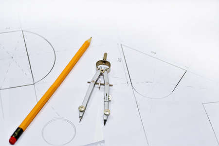 The process of creating the drawing. isolated on white background.