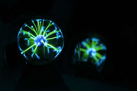 mistic: Electricity fire-ball. Abstract photo of electric waves. Static electricity