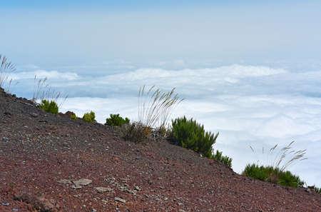 The highest Madeira island mountain Pico Ruivo.