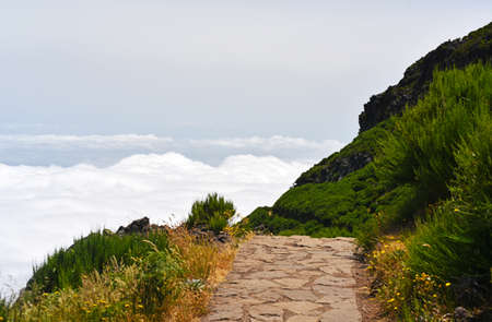 The highest Madeira island mountain Pico Ruivo. Sunny summer day.