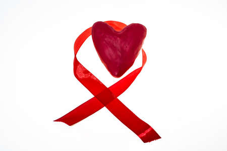 World AIDS Day abstract photo. Isolated on white background. Stock Photo