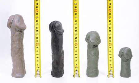 Penis sizes abstract photo. Statistics on penis size by countries.
