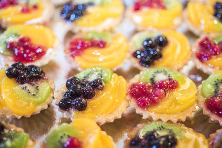 Summer dessert made from fruits and berries. Wedding food photo