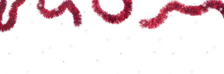 Christmas garland. Abstract isolated photo on white