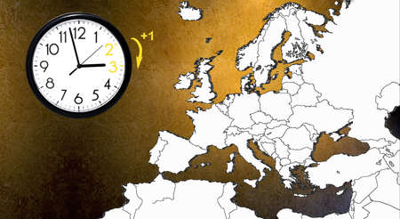 Wall Clock with map