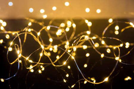 Shimmering blur spot lights on abstract background Zdjęcie Seryjne