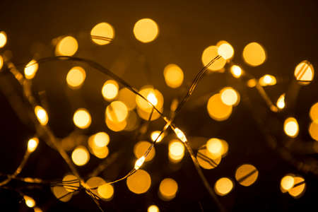 Shimmering blur spot lights on abstract background Stockfoto