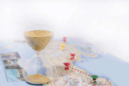 Abstract photo of time planning and spending in vacation. Stock fotó