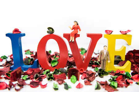 Abstract composition of love. Love concept. Stock fotó