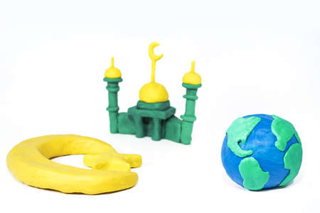 Symbols of Islam. Objects made from Play Clay. Abstract isolated photo. Stock fotó