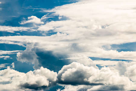cotton cloud: Dramatic cotton candy sky cloud texture background Stock Photo