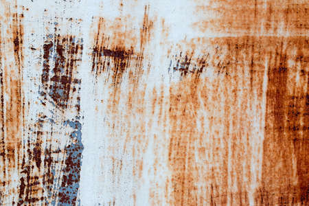 fleck: A background of peeling paint and rusty old metal Stock Photo