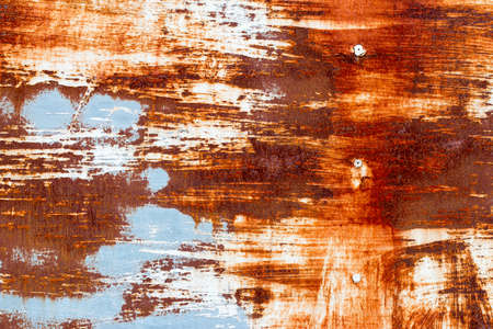 oxidized: A background of peeling paint and rusty old metal Stock Photo