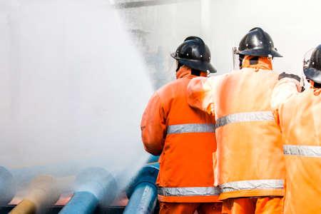 air pressure: Fireman Stock Photo