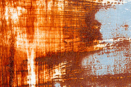 rust red: A background of peeling paint and rusty old metal Stock Photo