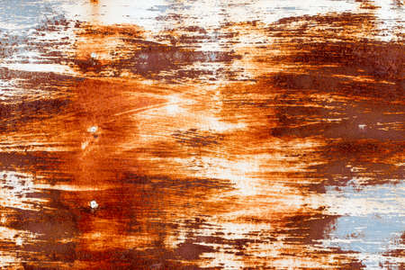 grime: A background of peeling paint and rusty old metal Stock Photo
