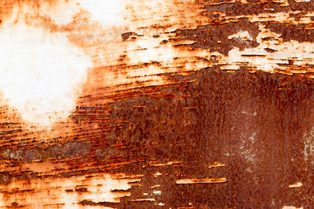 A background of peeling paint and rusty old metal Stock Photo