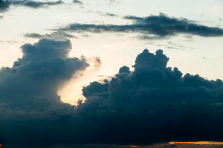 stratosphere: colorful dramatic sky with cloud at sunset