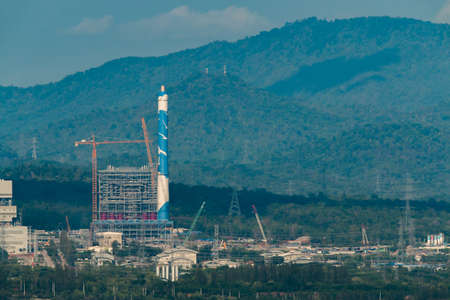 combustion: Mae Moh coal power plant in Lampang, Thailand. Stock Photo