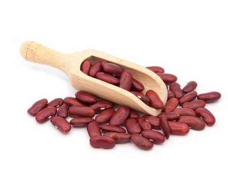 borlotti beans: Red bean isolated on white background