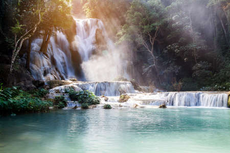 Kuang Si Waterfall (Tat Guangxi), Luang Prabang, Laos