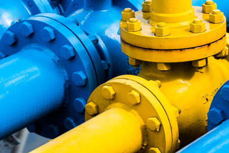 Valves at gas plant