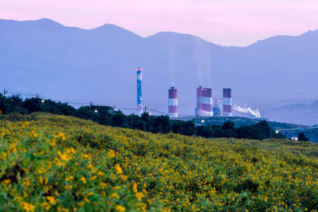 Mae Moh coal power plant in Lampang, Thailand. Stock Photo
