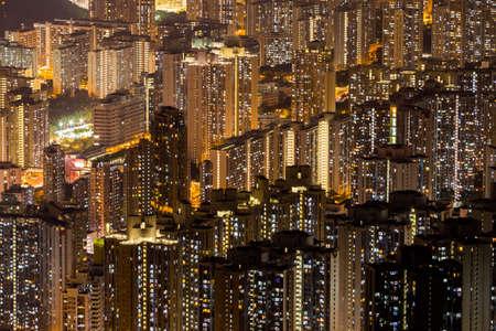 Aerial panoramic view of Hong Kong Island and Kowloon
