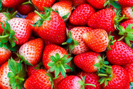 Seamless texture of juicy strawberries. Stock Photo