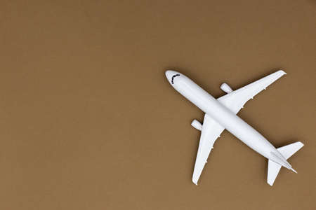 Model plane,airplane on pastel color background Stock Photo