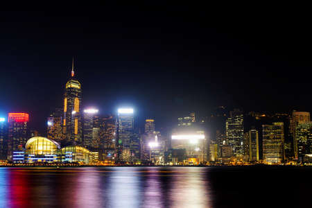 Hong Kong Skyline Kowloon from Fei Ngo Shan hill sunset Editorial