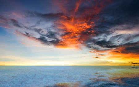 sunset over the sea 免版税图像