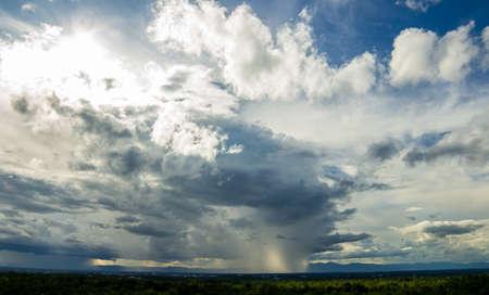burza z piorunami niebo deszcz chmury