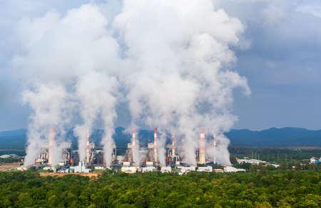 coal power plant in Lampang, Thailand. Archivio Fotografico