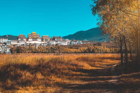 Songzanlin Temple also known as the Ganden ( Shangri-La), Yunnan) Zdjęcie Seryjne