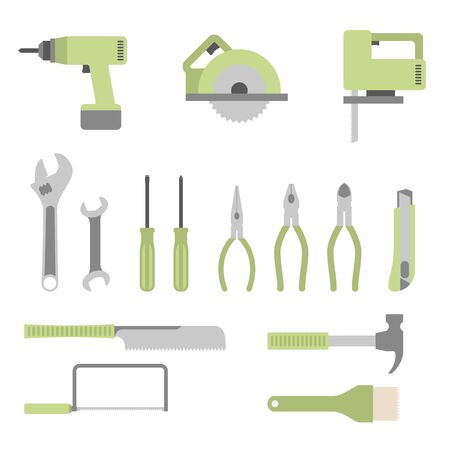 Werkzeugset diverse Vektorgrafik