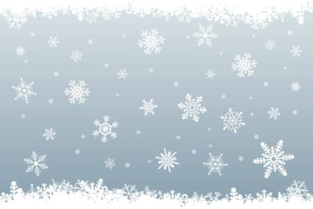 Snow Crystal Falling Background
