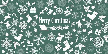 Christmas Ornament Background Иллюстрация