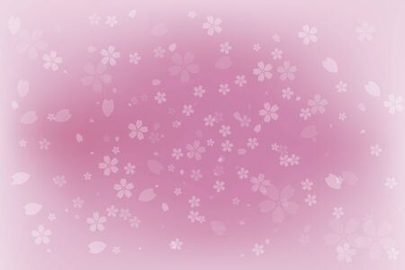 Cherry blossom petals falling pink background