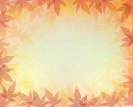 Gradient background with leaves of maple