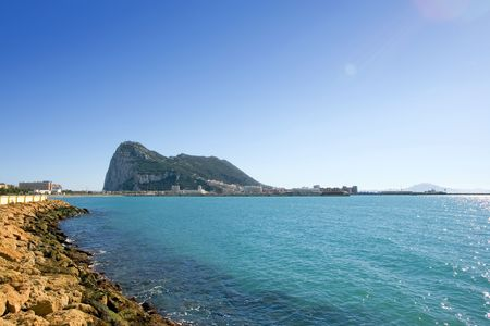 sol: Sea views to Gibraltar from La Linea in Spain on the Costa del Sol